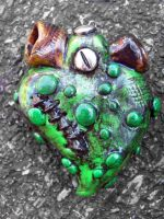 zombie heart by MotherMayIjewelry