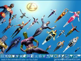 Legion of Superheroes Flight by Gene-Mederos