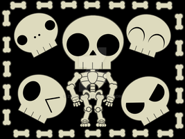 Cute Skele by zurtech