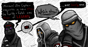 The Helghast and Zee Captain by paalomita