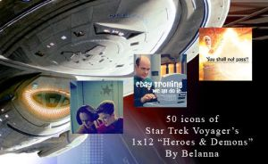 50 Star Trek Voyager Icons: Heroes and Demons by Belanna42