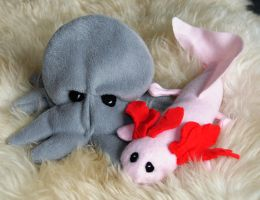 Spelt Octopus and Axolotl by Gajia