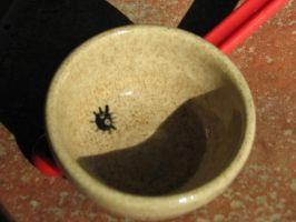 Soot spirit bowl 2 by Potterycat
