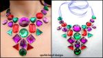 Red Purple and Green Bib by Natalie526