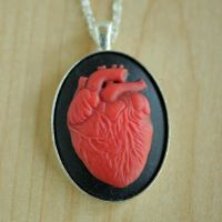 Anatomical Heart Necklace by MonsterBrandCrafts