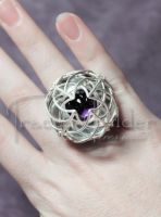 Amethyst Cage Ring: Top by TraceyWilderJewelry