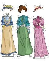dresses for Betsy jane by electricjesuscorpse
