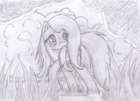 Sketch - Fluttershy by BCRich40