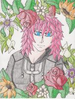 Marluxia-Flower Portrait by Luminiscent-Rose