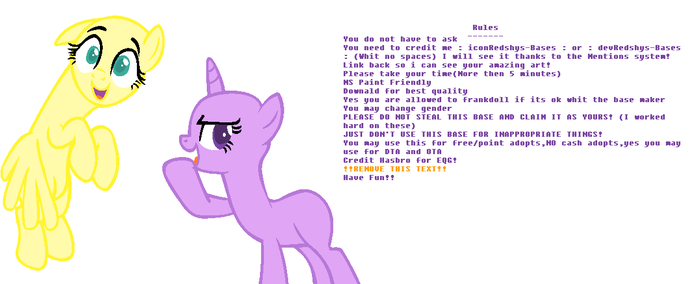 MLP Base #21 - Ok,so,here's the deal.. by Redshys-Bases