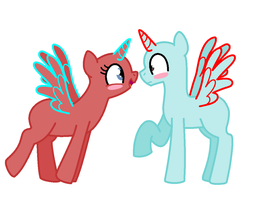 Requested Pony Couple BASE by BlizzardIceFox
