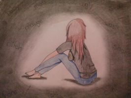 My pain is without love. by Purple-kat-pixels
