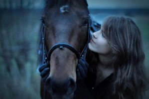 friendly horse and human by foto-graf-hi