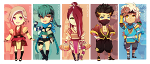 [POINT] Chibi Ninjas Adoptables Set by ERDJIE
