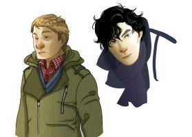 John and Sherlock by LimitBreakComics