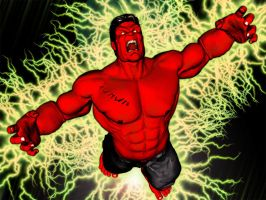 Red Hulk by graphicpoetry