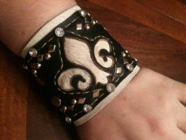 Custom Leather Cuff by hellcattheassassin