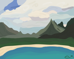 Mountain View by The-Emerald-Otter