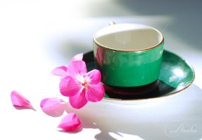 geranium and cup... by TheRedGirl