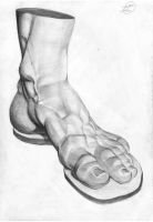 Foot Sculpture I by Outofname