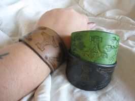 Mjolnir Bracelets by TheScreamingNorth