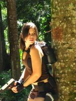 Lara in action on the forest by Jessie-TR