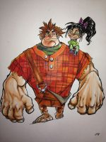 Wreckitralph copicfinished by FlatsNColors
