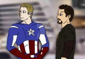 Avengers- The Captain and Tony Stark by Lady-of-Ratatosk