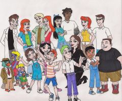 Phineas and Ferb Group Shot by 13foxywolf666