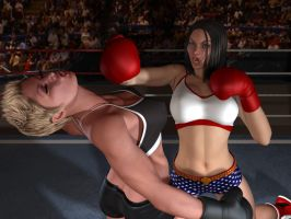 Raquel Stuns Rayne! by cpunch