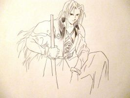2011-07 Sephiroth (from final fantasy VII) by coued