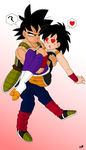 Bardock Saves Gine by Rainstar-123