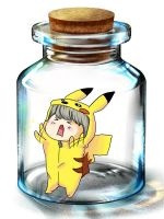 Bottle meme- Pika costume by annaxxz
