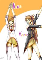 Vocaloid: Anon and Kanon + Speedpaint by xXJustForFunXx