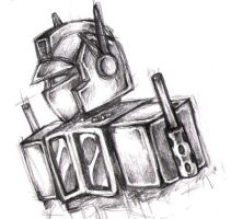 pencil optimus by CatusSnake