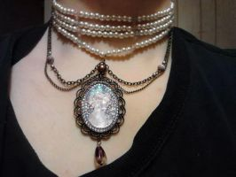 cameo beaded choker by DevastationRises