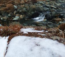 Snow on the rock by bob60t