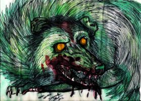 The Zombie Opossum by Senwolf10