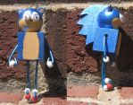Sonic the Hedgehog - The Block Figure by technodrumguy