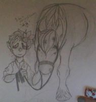 Bilbo baggins and ponies and flowers by SNOTBEAST
