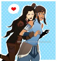 korra and asami by marilie7777