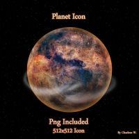 Planet Icon by chamirra