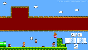 Mario bros 2 PSP Wallpaper by GoldenfrankO
