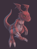 Random Guilmon by Soreiya