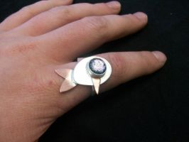 fish ring cabasion set stone by Haeddre