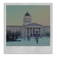 Manitoba Legislative Building - Old Polaroid by Joe-Lynn-Design