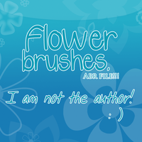 Flower brushes by MissPikachu