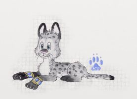 Snow leopard by HappyDucklings
