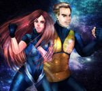 Star Trek James and Sarah Kirk by ChristinePresley