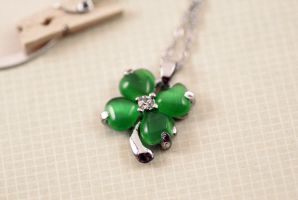 Four Leaf Clover Necklace by MonsterBrandCrafts